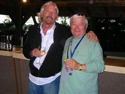 Ричард Брансън и Шефкет Чападжиев през лятото на 2009 г. СНИМКА: АРХИВ