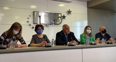 Бойко Борисов и колегите му на брифинга в понеделник