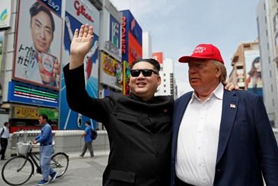 Двойниците на Ким Чен Ун и Доналд Тръмп вече са в Осака СНИМКИ: Ройтерс