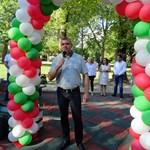 "Стоян Алексиев откри новата площадка в парк ""Рибница""."