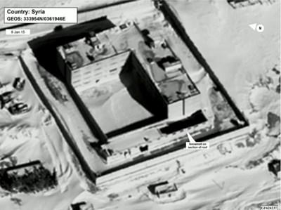 Снимки от Космоса на затворническия комплекс. СНИМКА: РОЙТЕРС