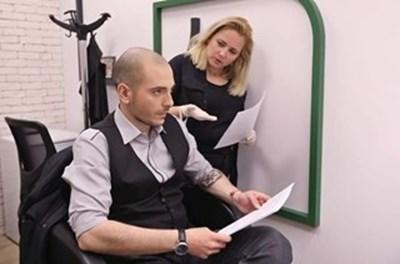 Лора Крумова и Николаос Цитиридис в подготовка на шоуто СНИМКА: Би Ти Ви