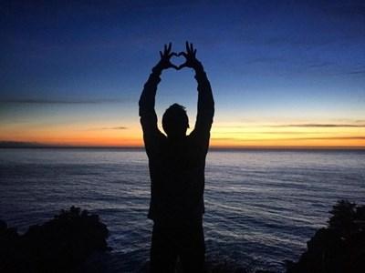 """""""Отвори сърцето си!"""", написа Гришо под една от снимките от МакУей Фолс."""