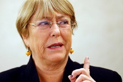 Върховният комисар на ООН за човешките права Мишел Бачелет СНИМКА: Ройтерс