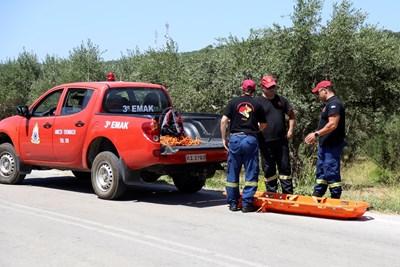Детективи, разследващи убийства, пристигнаха на Крит от Атина, за да оглавят разследването.  СНИМКА: Ройтерс