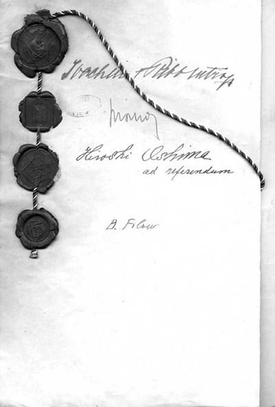 Протокол за присъединяване на България към пакта, 1 март 1941 г.