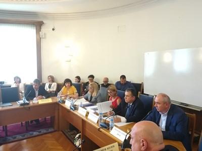 Министър Петя Аврамова пред регионалната комисия СНИМКА: Мария Милкова