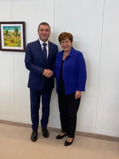 Владислав Горанов и Кристалина Георгиева СНИМКА: Министерство на финансите