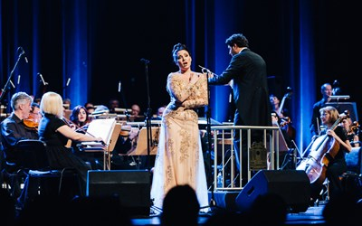Соня Йончева направи предпремиера на Вердиевия репертоар пред 4000 в НДК Соня Йончева на сцената на зала 1 на НДК. СНИМКА: НДК