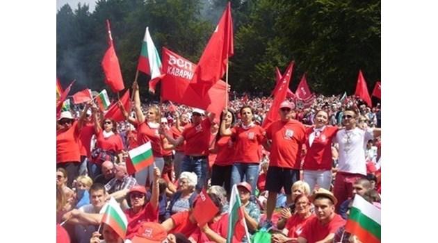 Най-авторитетните социалисти се използват за масовка... Раз-два, раз-два...