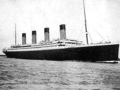 """Една от последните снимки на """"Титаник"""" преди фаталния сблъсък."""