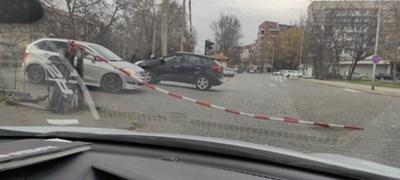 """Един от жп прелезите на бул. """"Копривщица""""."""