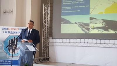 В Русе Георги Терзийски представи пътните проекти, които ще се строят в Северна България. СНИМКА: АПИ
