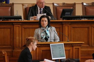 Десислава Танева в парламента през февруари т.г. Снимки: Архив