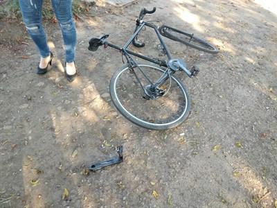 Това е колелото на блъснатия Константин Касабов.