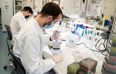 """Лаборанти в Дания проучват новия """"английски"""" щам на коронавируса. СНИМКА: РОЙТЕРС"""