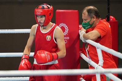 Стойка Кръстева се класира на четвъртфинал на олимпийския турнир по бокс в категория до 51 кг при жените. СНИМКА: БОК, КОСТАДИН АНДОНОВ, START-PHOTO