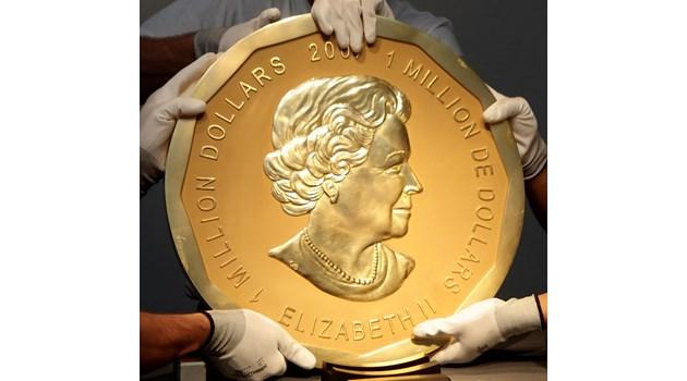 """Откраднаха """"Голям кленов лист"""" – най-скъпата монета в света (3,7 млн. евро)"""