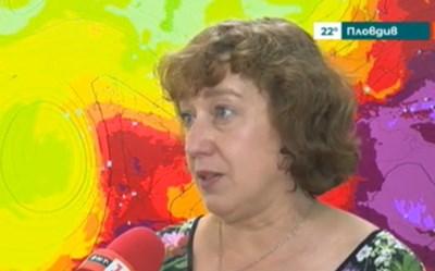 Метеорологът Лилия Бочева КАДЪР: БНТ
