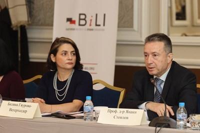 Биляна Вегертседер и Янаки Стоилов СНИМКИ: Министерство на правосъдието