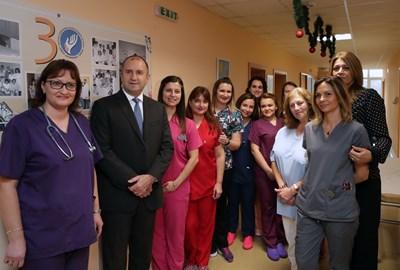 """Началото на кампанията беше дадено в университетската болница """"Света Марина"""" във Варна. Снимка прессекретариат на държавния глава"""