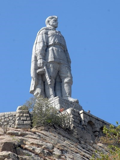 Паметникът на Альоша в Пловдив СНИМКА: Архив