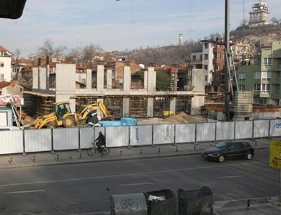 Строящата се художествена галерия в Пловдив. Снимка: Евгени Цветков