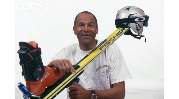 Първият чернокож африканец в ските за малко да се откаже, когато видял колко е стръмно
