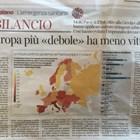 Факсимиле от материала в италианския вестник