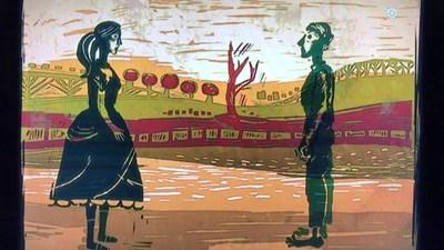 """Кадър от късометражната анимация """"Сляпата Вайша""""."""