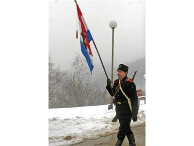 """Снимките с опълченци са част от атракцията на честванията на Трети март на Шипка. СНИМКА: """"24 ЧАСА"""""""