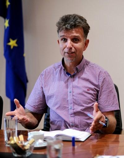 """Боян Петров бе въодушевен от кампанията """"Яко е да си еко"""". СНИМКА: Десислава Кулелиева"""