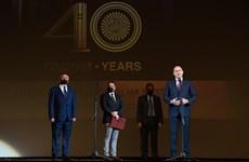 Президентът Румен Радев произнася своето поздравително слово. СНИМКА: ПРЕССЕКРЕТАРИАТ НА ДЪРЖАВНИЯ ГЛАВА