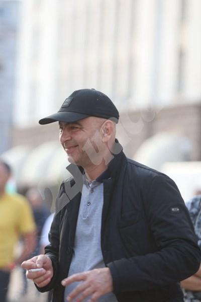 Димитър Ламбовски на протеста в София СНИМКИ: Николай Литов СНИМКА: 24 часа