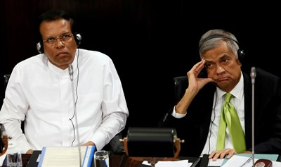 Президентът и премиерът на Шри Ланка Снимка: Ройтерс