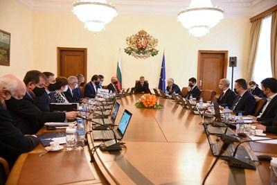 Днешното заседание на Министерски съвет Снимки: Велислав Николов