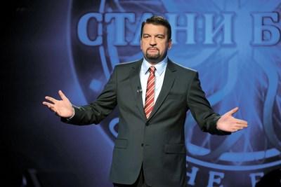 """Ники Кънчев като водещ на """"Стани богат""""  СНИМКА: АРХИВ"""
