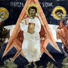 В това изображение на Иисус Христос в църквата на село Добърско мнозина виждат формите на космическа ракета.