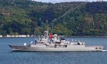 Гръцка фрегата удари турски боен кораб (Обзор)