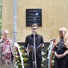 Откриването на паметната плоча в присъствието на наследниците на великите актьори -  Мария Грубешлиева-Муки и Ивайло Калоянчев