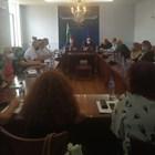 Проф. Костадин Ангелов на среща с директорите на болниците в Самоков, Етрополе, Своге, Ботевград, Пирдоп и др. Снимка: МЗ