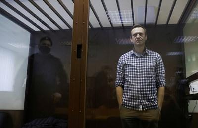 Излежаващият присъда руски опозиционен лидер Алексей Навални СНИМКА: РОЙТЕРС