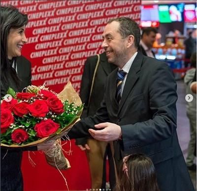 """Яна Маринова на премиерата на """"Диви и щастливи"""" в Северна Македония СНИМКА: ИНСТАГРАМ"""
