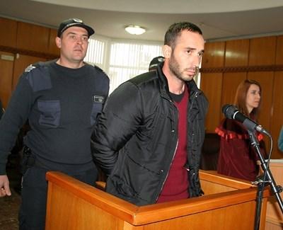 Илиян Рангелов в съда.