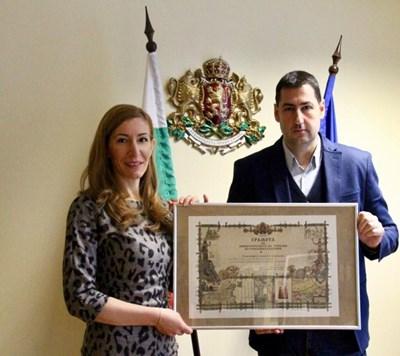 Николина Ангелкова  и Иван Тотев Снимка: Министерство на туризма