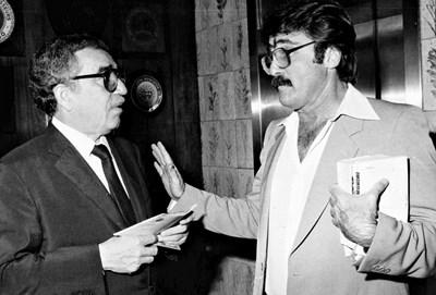 Габриел Гарсия Маркес (вляво) и Теодоро Петкоф са добри приятели до края на живота си...