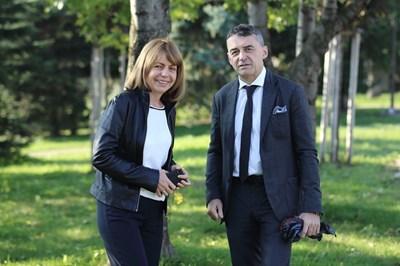 Йорданка Фандъкова и проф. Иво Петров СНИМКА: Гео Калев