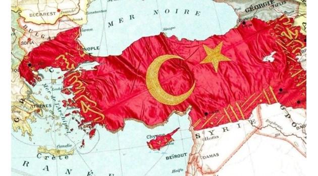 Защо депутат на Ердоган показа карта на Турция, в която е и половин България