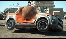 Унищожаване на автомобили с 4 тонна топка