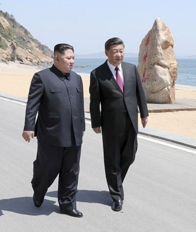 Призивът на Китай Си Цзинпин и Ким Чен-ун Снимка: Ройтерс